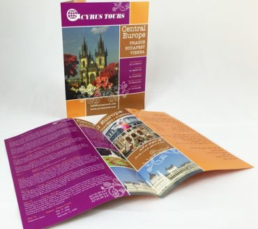 cyrus travel central europe brochure design