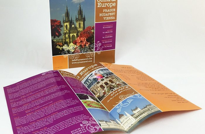 cyrus travel central europe brochure design