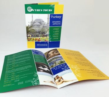 cyrus travel turkey brochure design